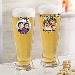 Photo Message For Her Personalized 20oz. Pilsner Glass
