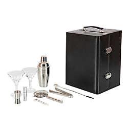 Manhattan 11-Piece Portable Cocktail Set in Black