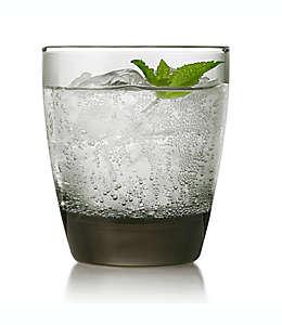 Vaso de vidrio Libbey® Glass Classic old fashioned doble color gris humo