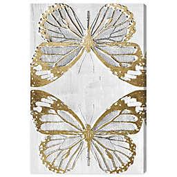 Golden Butterflies 16-Inch x 24-Inch Canvas Wall Art