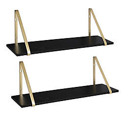 Kate and Laurel™ Soloman Accent Shelves in Black (Set of 2)