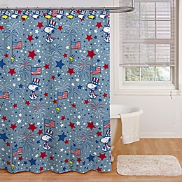 Peanuts™ 72-Inch by 72-Inch Americana Cartoon Shower Curtain