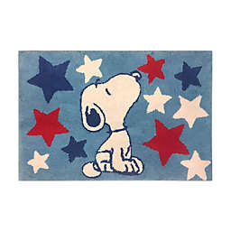 "Peanuts™ Americana 30"" x 20"" Tufted Bath Rug"