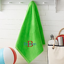 All About Me Personalized Beach Towel