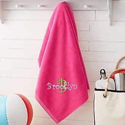 All About Me Personalized 36-Inch x 72-Inch Beach Towel in Pink