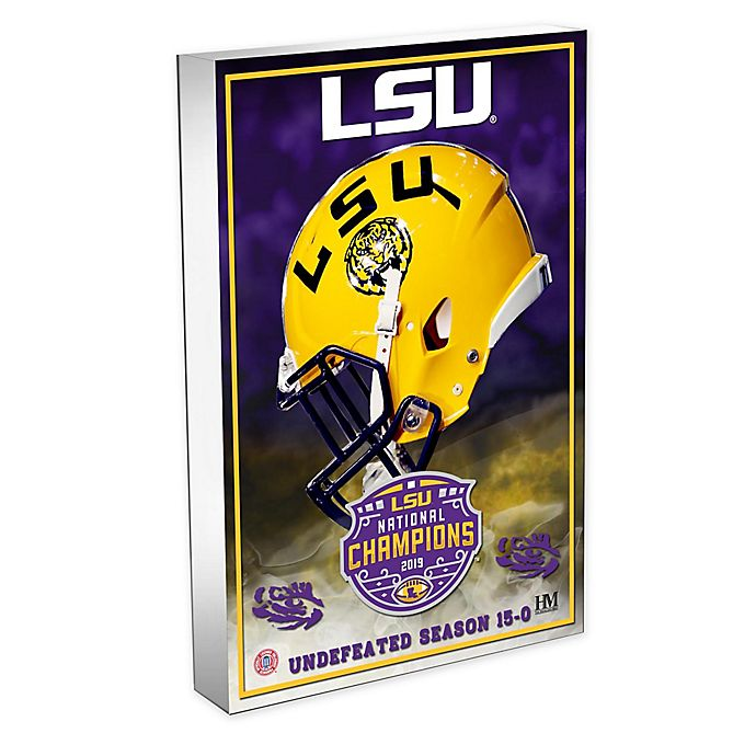 Alternate image 1 for College Football LSU 19 National Champs 3D Acrylic BlocKart