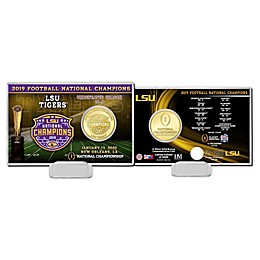 College Football LSU 19 National Champs Coin Card