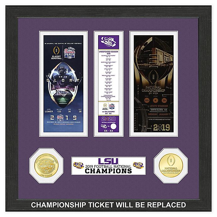 College Football LSU 19 National Champions Ticket | Bed ...