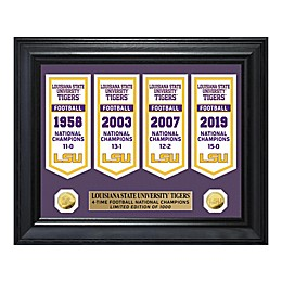 College Football LSU Gold Coin Deluxe Banner Collection