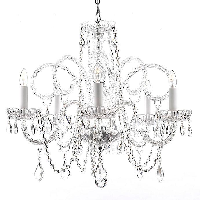 Alternate image 1 for Gallery Venetian Style Crystal 5-Light Chandelier