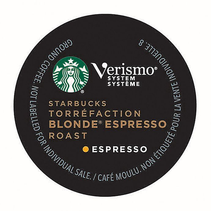 Alternate image 1 for Starbucks® Verismo® Blonde Espresso Roast Espresso Pods 12-Count