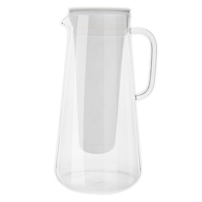 Alternate image 1 for LifeStraw® 7-Cup Glass Home Water Filter Pitcher in White