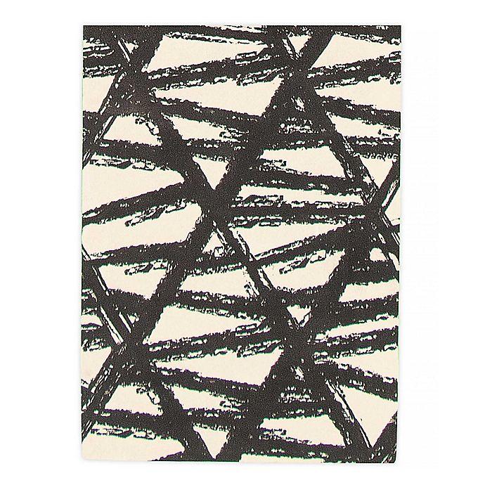 Alternate image 1 for ECARPETGALLERY Bellisima Woven Rug in Black/Ivory