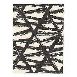 ECARPETGALLERY Bellisima Woven Rug in Black/Ivory