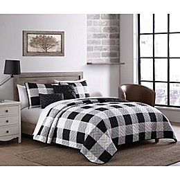 Addison Home Buffalo Plaid 5-Piece Reversible Quilt Set