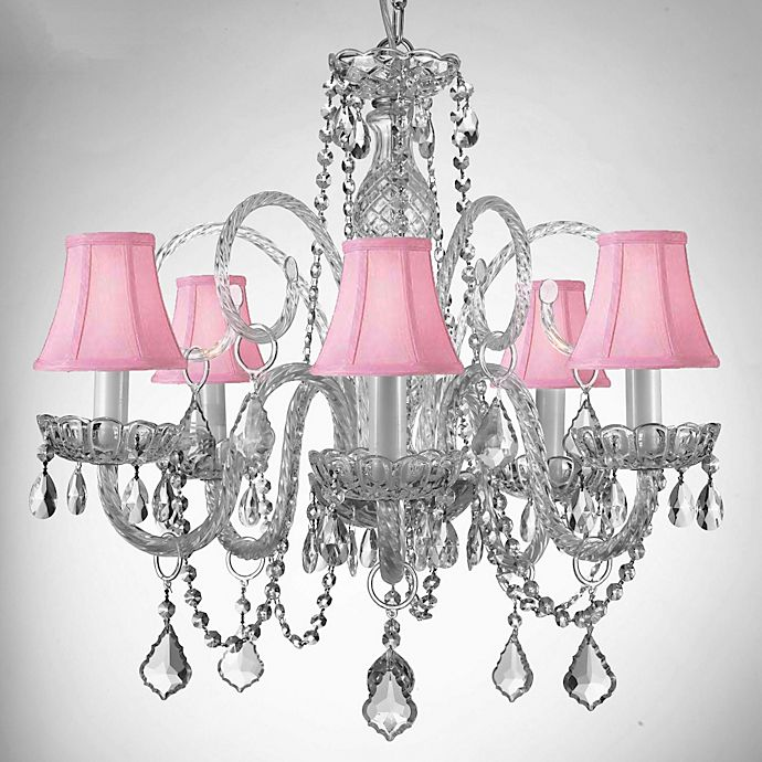 Alternate image 1 for Gallery Style Crystal Chandelier with Shades