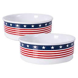 Dii® Bone Dry Patriotic Pet Bowls in Red/White/Blue (Set of 2)