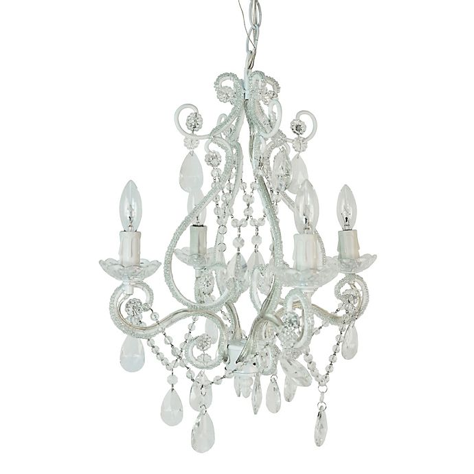 Alternate image 1 for Tadpoles™ by Sleeping Partners 4-Bulb Mini Chandelier in White Diamond