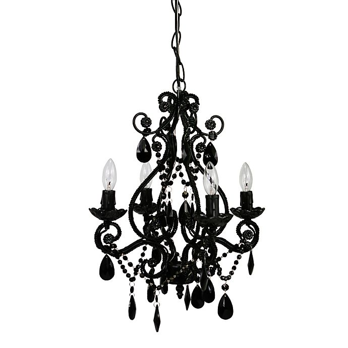 Alternate image 1 for Tadpoles™ by Sleeping Partners 4-Bulb Mini Chandelier in Black Onyx