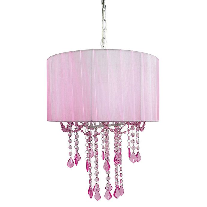Alternate image 1 for Tadpoles™ by Sleeping Partners 1-Bulb Shaded Chandelier in Pink