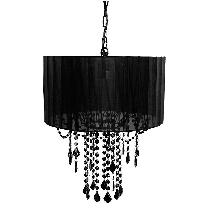 Alternate image 1 for Tadpoles™ by Sleeping Partners 1-Bulb Shaded Chandelier in Black