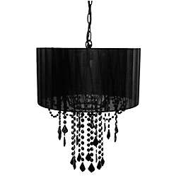 Tadpoles™ by Sleeping Partners 1-Bulb Shaded Chandelier in Black