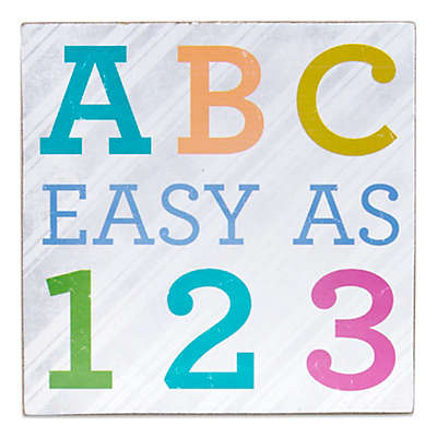 About Face Designs ABC Easy as 123 Plaque