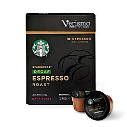 Starbucks® Verismo® 12-Count Decaf Espresso Roast Espresso Pods