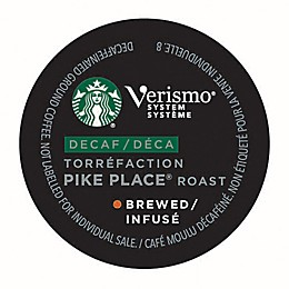 Starbucks® Verismo® 12-Count Decaf Pike Place® Roast Brewed Coffee Pods