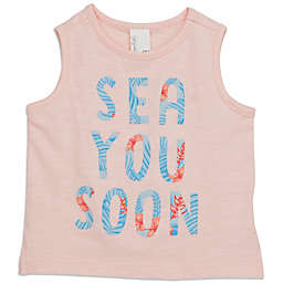 "Sovereign Code® Size 6-9M ""Sea U Soon"" T-Shirt in Peach"