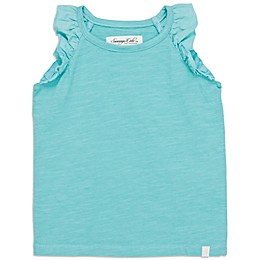 Sovereign Code™ Ruffled Sleeveless Tank Top in Turquoise