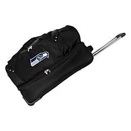 NFL Seattle Seahawks 27-Inch Drop Bottom Wheeled Duffel Bag
