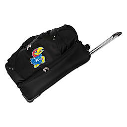 University of Kansas 27-Inch Drop Bottom Rolling Duffel Bag
