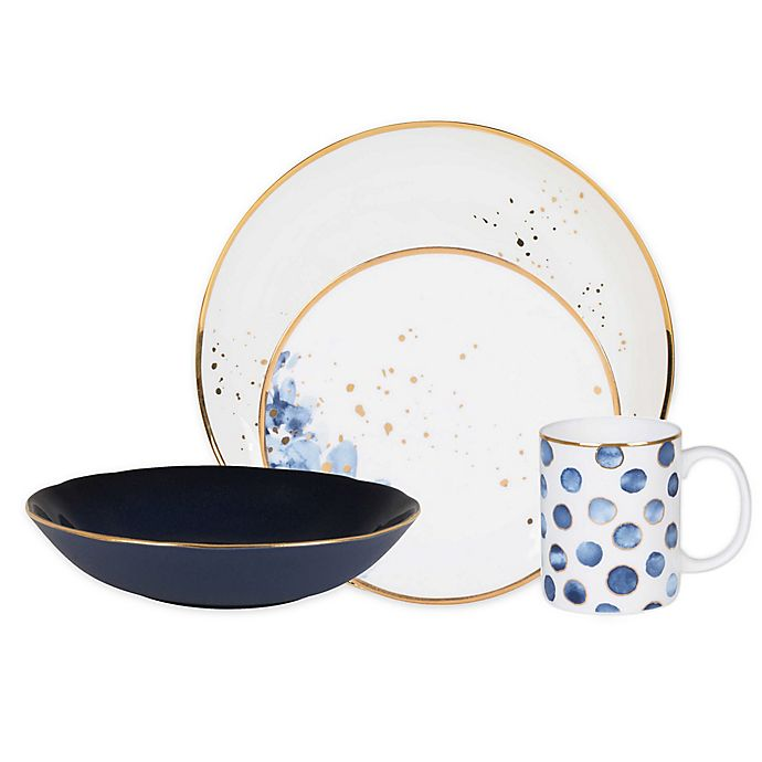 Alternate image 1 for Olivia & Oliver® Harper Blue Mix and Match Dinnerware Collection