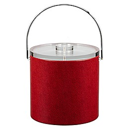 Kraftware™ Rocks Red 3 qt. Ice Bucket with Lucite Lid