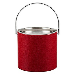 Kraftware™ Rocks Red 3 qt. Ice Bucket with Metal Lid