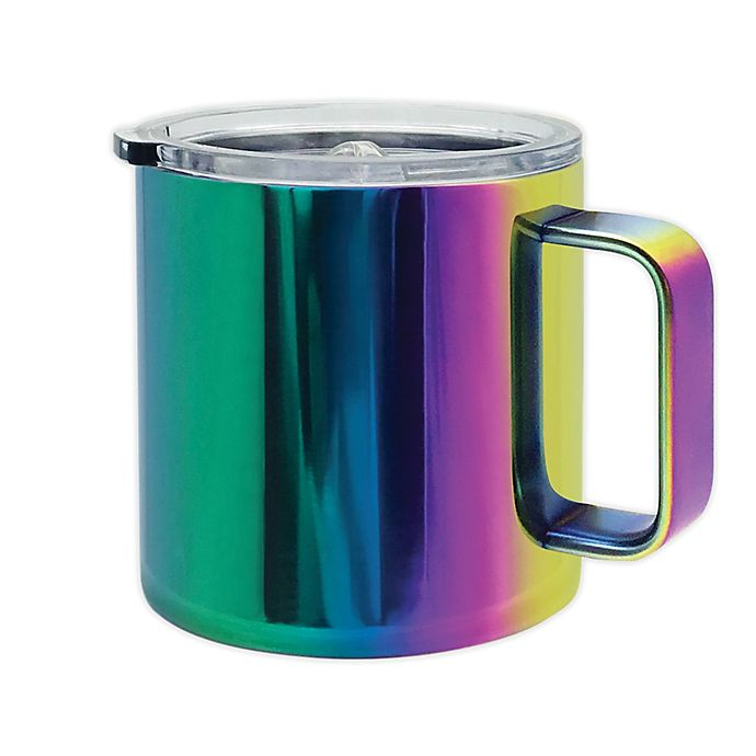 Alternate image 1 for Thermo Travel Mug in Rainbow
