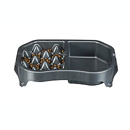 Neater Pets® Neater Slow Feeder Double Diner Controlled Feeding Bowl in Grey