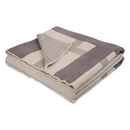 Knitted Throw Blanket in Beige
