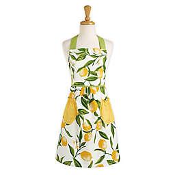 DII® Design Imports Lemon Bliss Apron in Yellow/White