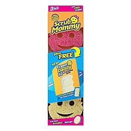 Scrub Daddy® 3-Pack Scrub Mommy® Cleaning Sponges with Eraser Daddy
