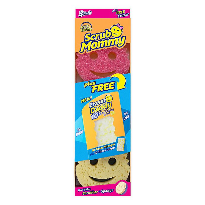 Alternate image 1 for Scrub Daddy® 3-Pack Scrub Mommy® Cleaning Sponges with Eraser Daddy