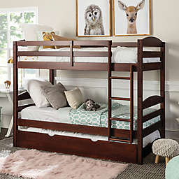Forest Gate™ Twin Over Twin Bunk Bed with Trundle in Espresso