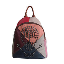 AmeriLeather 11.5-Inch Joreah Patchwork Leather Backpack