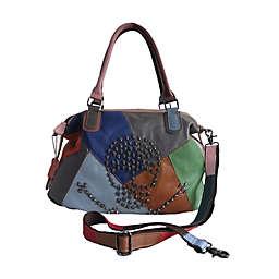 AmeriLeather 15.5-Inch Brien Patchwork Leather Handbag