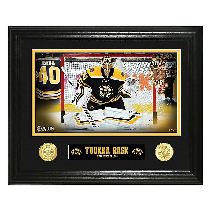 AUTHENTIC APPAREL NHL Boston Bruins 5-Time Champion Framed Collectible with Silver Plated Coin Set