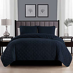 Cathay Home Home Basics 2-Piece Twin/Twin XL Quilt Set in Navy