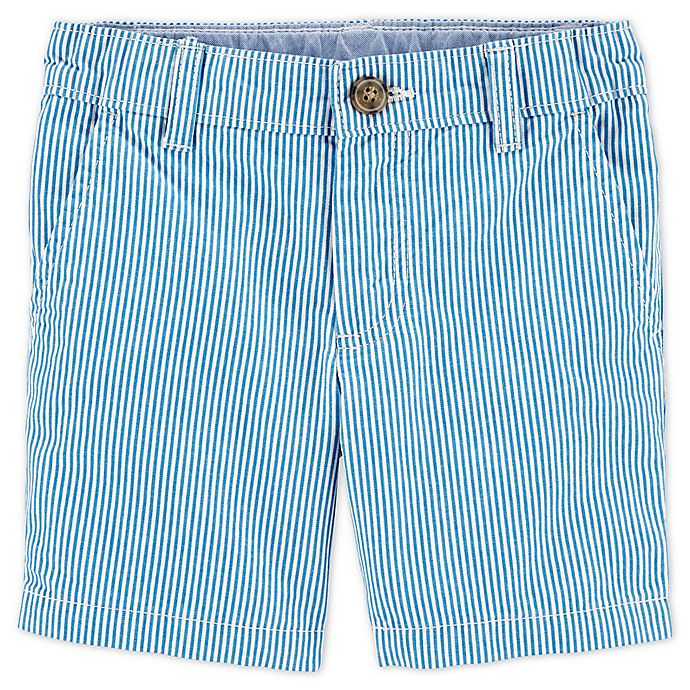 Alternate image 1 for carter's® Size 12M Hickory Striped Shorts