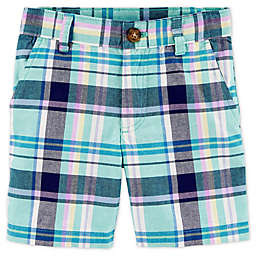 carter's® Plaid Flat-Front Short in Mint