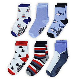 Capelli New York 6-Pack Sharks Socks